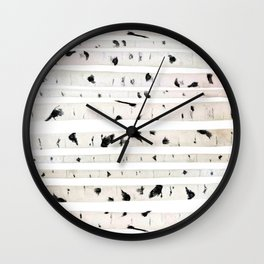birch watercolor pattern 2018 Wall Clock