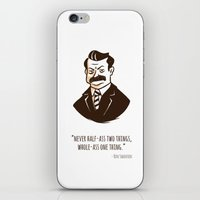 ron swanson iPhone & iPod Skins featuring Ron Swanson by Chris Baldie