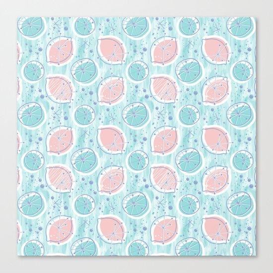 Atomic Blue Lemonade Canvas Print