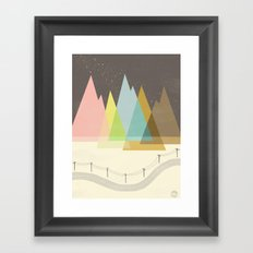 Highway Under Stars Framed Art Print