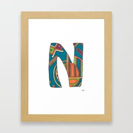 Initial N #1 Framed Art Print