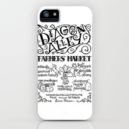 Diagon Alley Farmers' Market iPhone Case