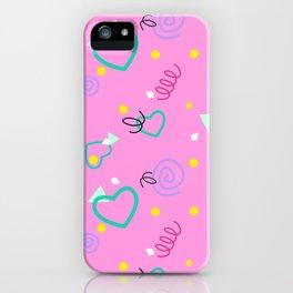 80s Confetti Party iPhone Case