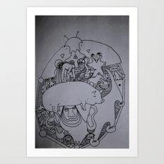 pork Art Print