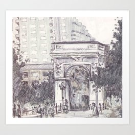 Washington Square Park Art Print