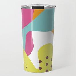 Colorful Blobs Abstract Art Print Travel Mug