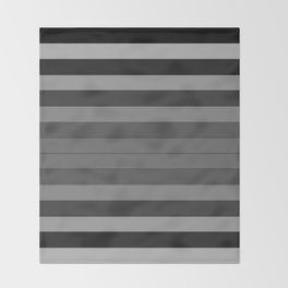 Black and Gray Stripes Throw Blanket