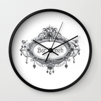 bar Wall Clocks featuring Bar Wench by Andrea Jean Clausen - andreajeanco