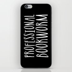 Professional bookworm - Inverted iPhone Skin
