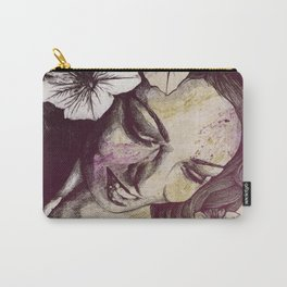In The Year Of Our Lord: Wine (smiling lady with petunias) Carry-All Pouch