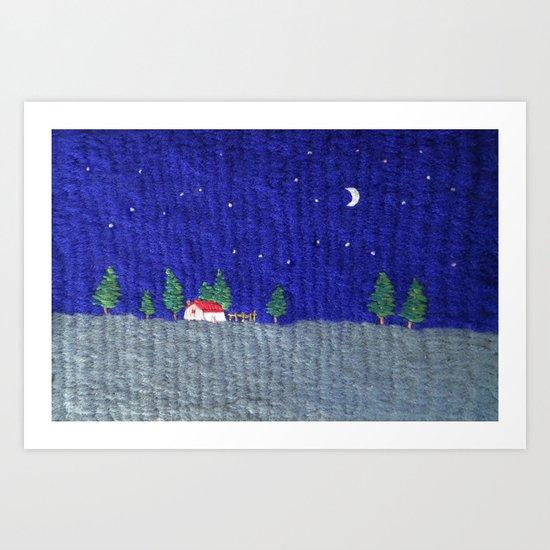 Night scenes Art Print