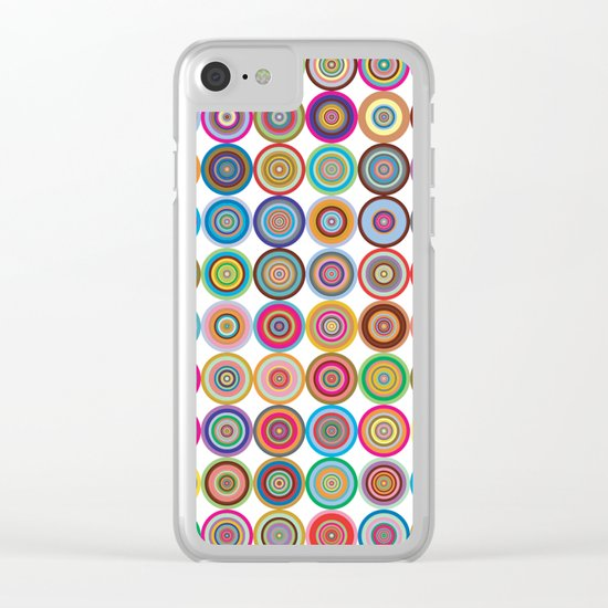 Circle color green rose Clear iPhone Case