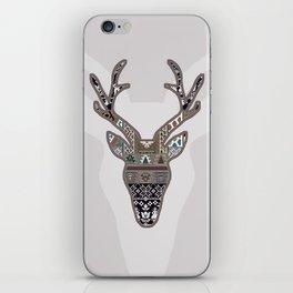 Patchwork deer iPhone Skin