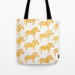 Zebras – Yellow Palette Tote Bag