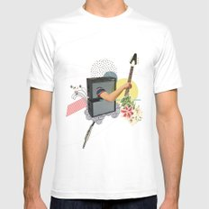 UNTITLED #2 MEDIUM White Mens Fitted Tee