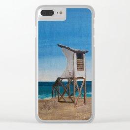 NC Beach Inspired 4 Clear iPhone Case