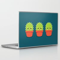 kawaii Laptop & iPad Skins featuring Kawaii Cactus Dude by Steph Dillon