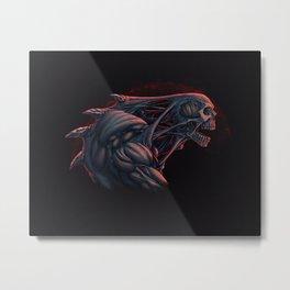 Skull Creature Color Metal Print