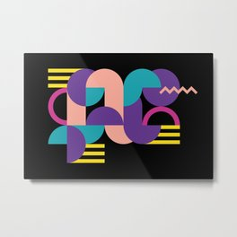 Memphis Pattern 16 - Abstract Geometric / 80s Retro Metal Print