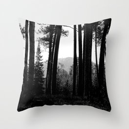 Looking Through the Tree Wall Throw Pillow