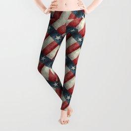 Vintage Texas flag pattern Leggings