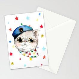 shining cat Stationery Cards