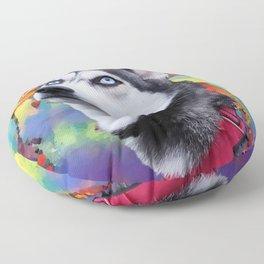 Dreaming Husky Floor Pillow