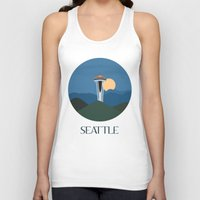seattle Tank Tops featuring Seattle by uzualsunday