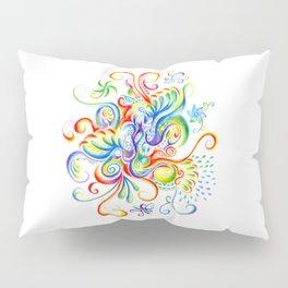 Abstract Coloured Pencil Art Pillow Sham