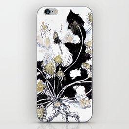 Gold Dandelions iPhone Skin