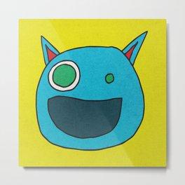 Slightly Amused Monsters, I Blue Metal Print