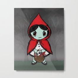 Lil' Dead Riding Hood Metal Print