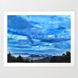 Overlooking Coromandel, New Zealand Art Print