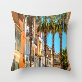 Colorful Sanary-sur-Mer Throw Pillow