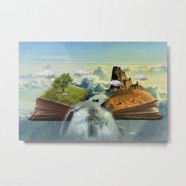 Landscape In A Book Metal Print