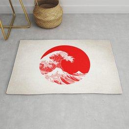 Hokusai great wave of Kanagawa Rug