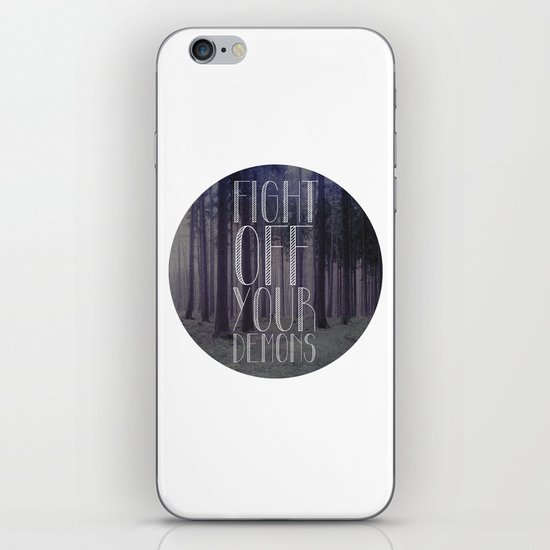 fght ff yr dmns II iPhone & iPod Skin
