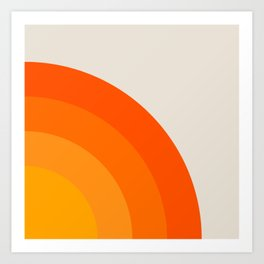 Sunrise Rainbow - Right Side Art Print