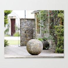 English Garden - Stone Ball Canvas Print