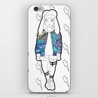 holographic iPhone & iPod Skins featuring Bunny Belle / Holographic by Millicent A Venton