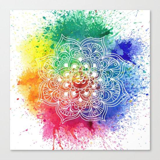Multicolor mandala Canvas Print