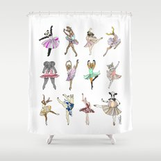 Animal Ballet Hipsters LV Shower Curtain