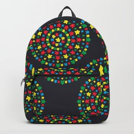 Meeple Mandala in Black Backpack