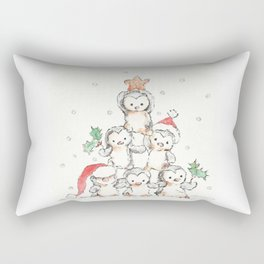 Oh Penguin Tree Rectangular Pillow
