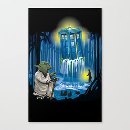 MAy the Tardis be with you! Canvas Print