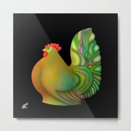Fat chicken by rafi talby Metal Print