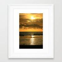 hawaiian Framed Art Prints featuring Hawaiian Sunset by Just Wright Photos