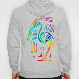 Fragmented Thoth-Ibis Hoody