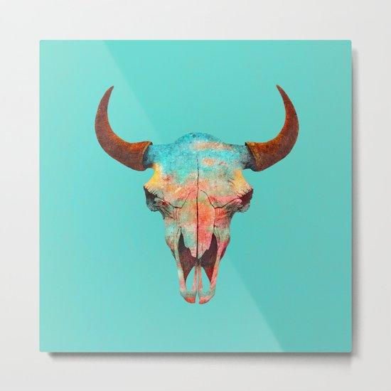 Turquoise Sky Metal Print