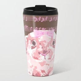 Bunny Composition (pink/brown) Metal Travel Mug